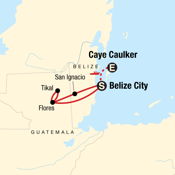 Belize Karte.Erlebe Belize Tikal In Belize Mittelamerika G Adventures