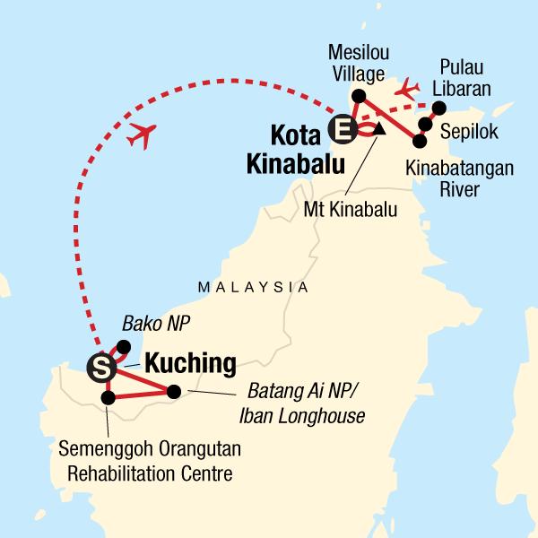 diagram batang ceo sarawak  sabah and trekking kinabalu in borneo  asia g adventures  sarawak  sabah and trekking kinabalu in