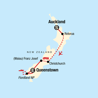 Map of New Zealand Journey