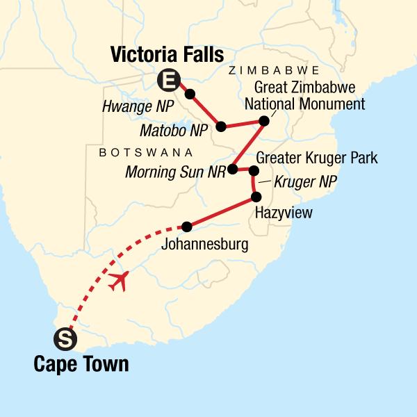 Kapstadt, Krüger-Nationalpark & Simbabwe