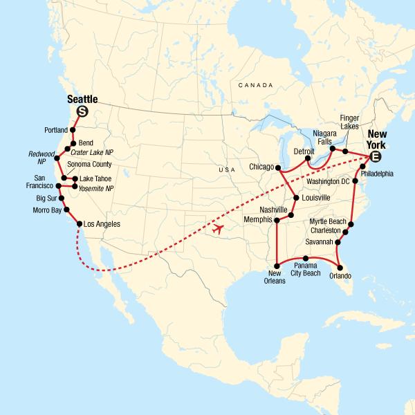 Roadtrip an den Küsten Amerikas – Ostwärts in Vereinigte Staaten on