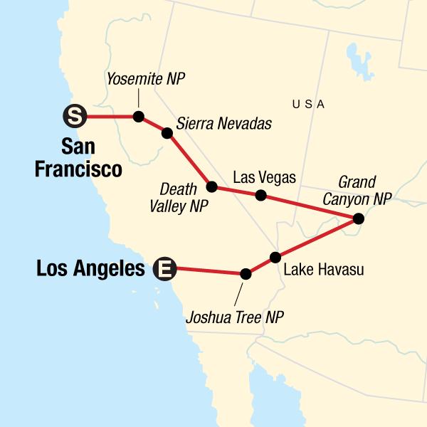 USA Express: Von San Francisco nach Los Angeles in Vereinigte ...