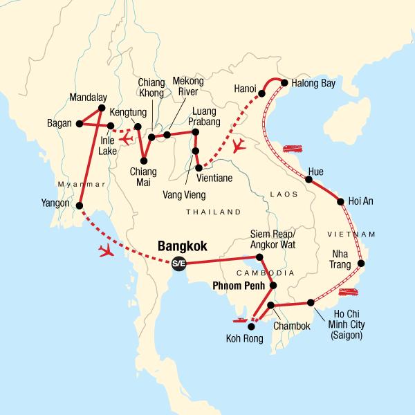 Indochina Xl In Thailand Asien G Adventures