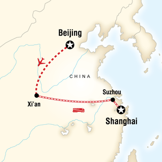 Map of China Express