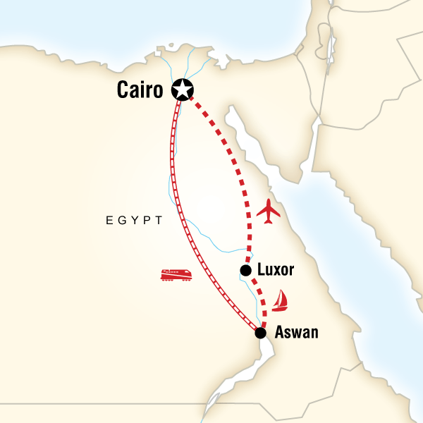 Map of the route for Best of Egypt