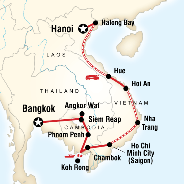 Ho Chi Minh Vietnam Map.Cambodia Vietnam On A Shoestring In Cambodia Asia G Adventures