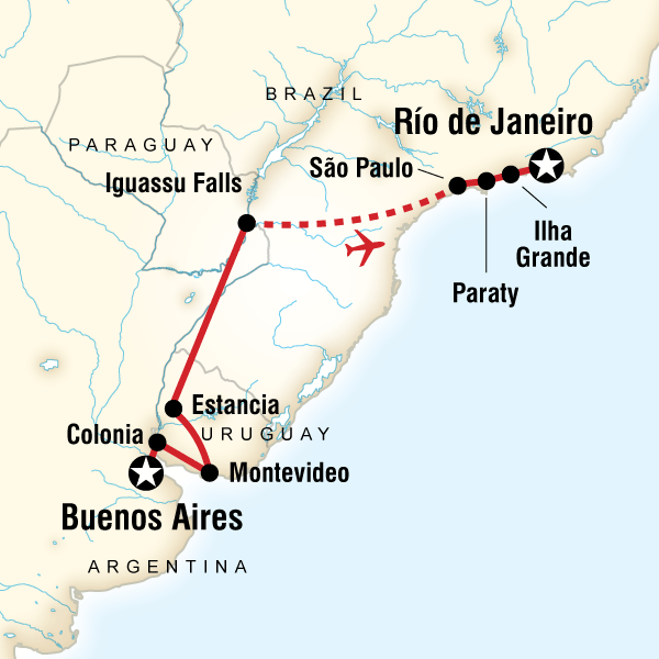 In Search Of Iguassubuenos Aires To Rio In Brazil South America