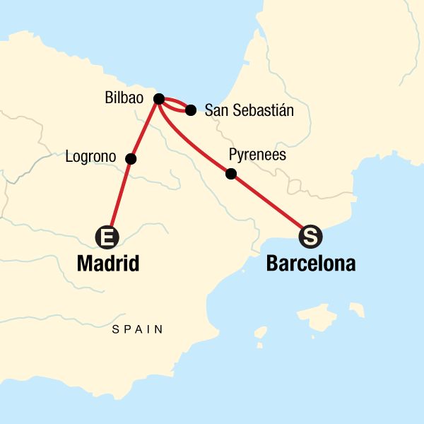 Map Of Spain With Barcelona.Best Of Northern Spain