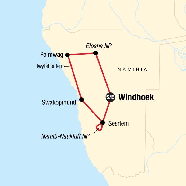 Namib Wüste Karte.Die Wunder Von Namibia In Namibia Afrika G Adventures