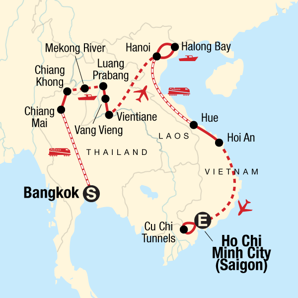 Laos Karte.Erlebnisreise Durch Thailand Laos