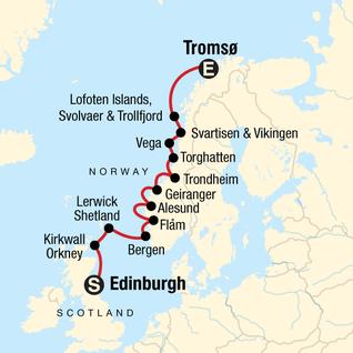 Map of Explore the Norwegian Fjords