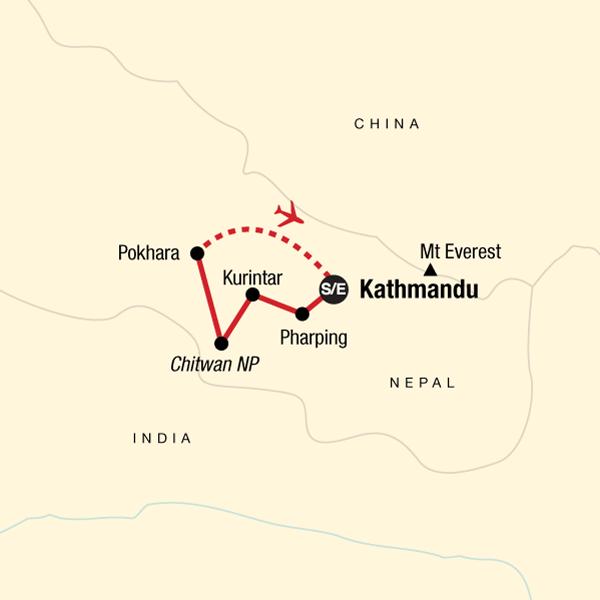 Himalaya Berge Karte.Nepal Highlights Im Himalaya In Nepal Asien G Adventures