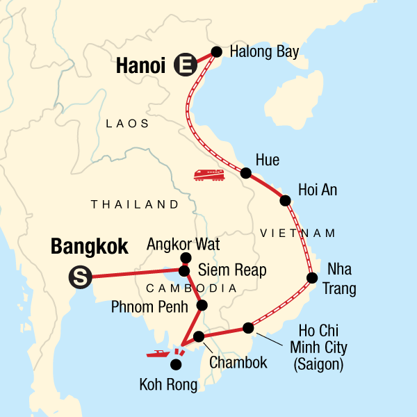 Map Of Vietnam And Cambodia Cambodia & Vietnam on a Shoestring in Cambodia, Asia   G Adventures