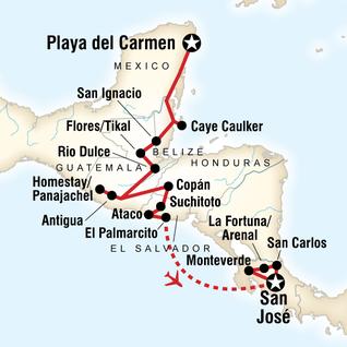 Honduras Mexico Map.Honduras Tours Travel G Adventures