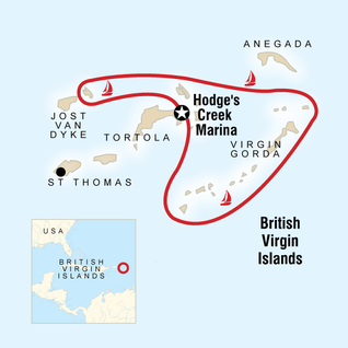Britanya Virjin Adaları turu harita