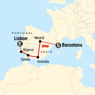 Map Of East Coast Of Spain.Spain Tours Travel G Adventures