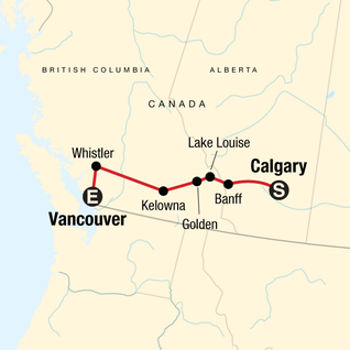 Map of Canadian Rockies Express