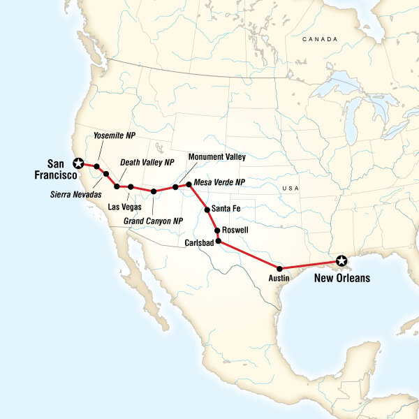San Francisco To New Orleans Road Trip In United States