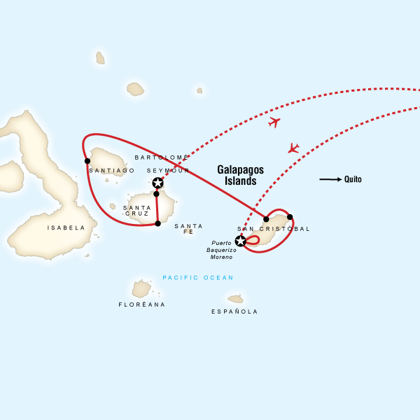 Galpagos Land  Sea  Central  East Islands aboard the Xavier