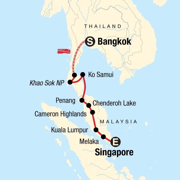 Von Bangkok nach Singapur mit kleinem Budget in Malaysia, Asien - G ...
