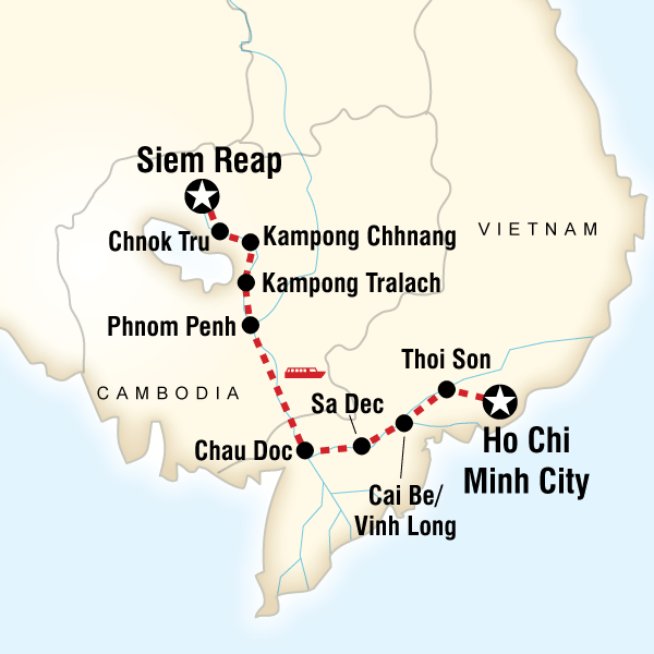 Ho Chi Minh Vietnam Map.Tours For Indochina