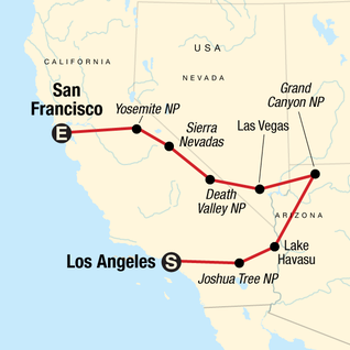 Map of Western Express Northbound