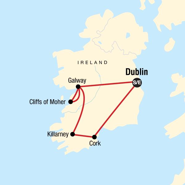 Irland Cliffs Of Moher Karte.Die Highlights Von Irland In Irland Europa G Adventures