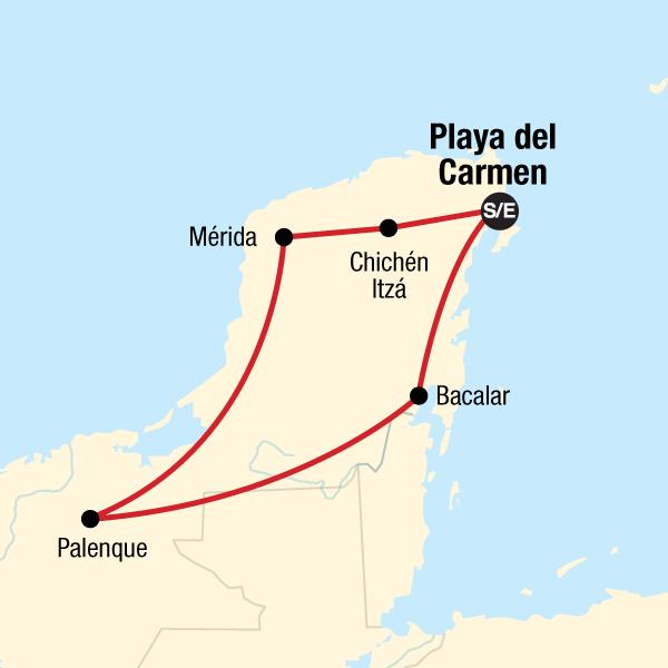 Yucatan, Chiapas & die Riviera Maya in Mexiko, Mittelamerika - G ...