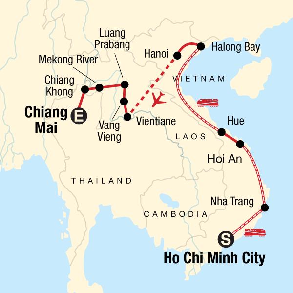 Laos Karte.Vietnam