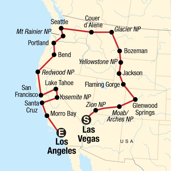 Roadtrip durch die USA – Von Las Vegas nach Los Angeles in ...