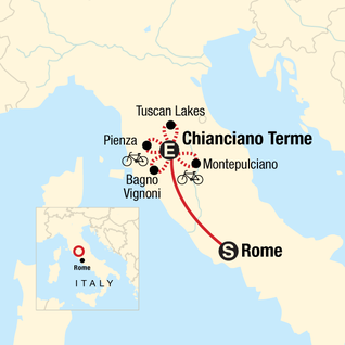 Map of Cycling in Tuscany