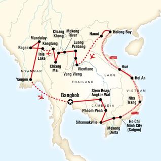 Burma Myanmar Tours Travel G Adventures - Map of burma