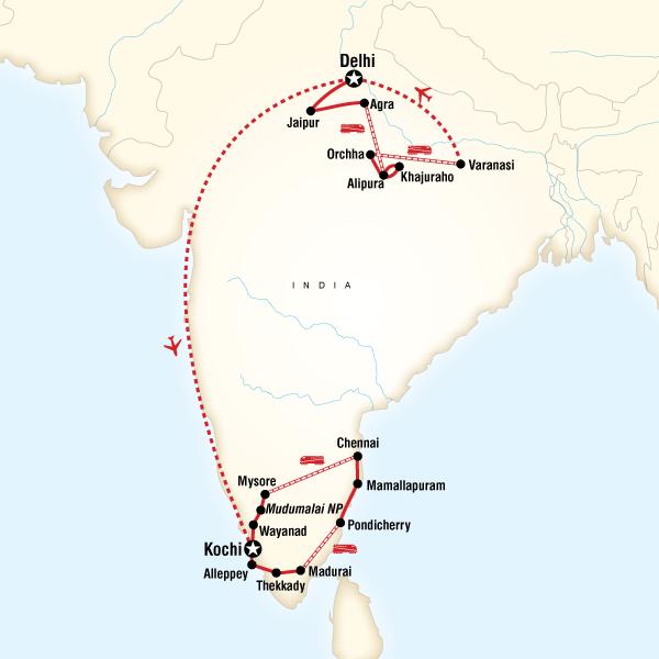 India Encompassed in India, Asia - G Adventures