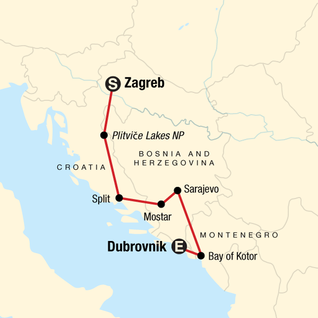 Map of Discover the Balkans