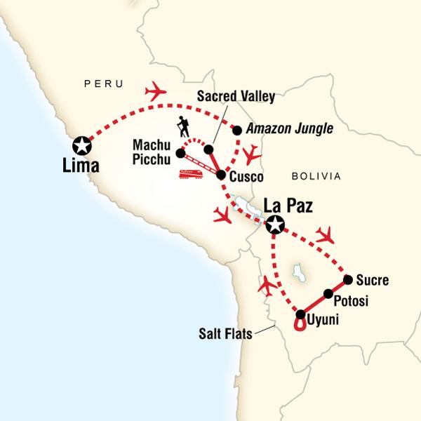Peru and Bolivia: Machu Picchu to the Salt Flats in Peru, South ...