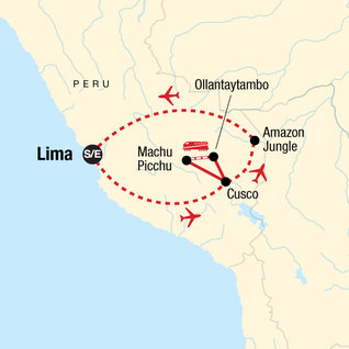 Map of The Inca Journey
