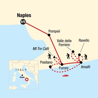 Map of Local Living Italy—Amalfi Coast