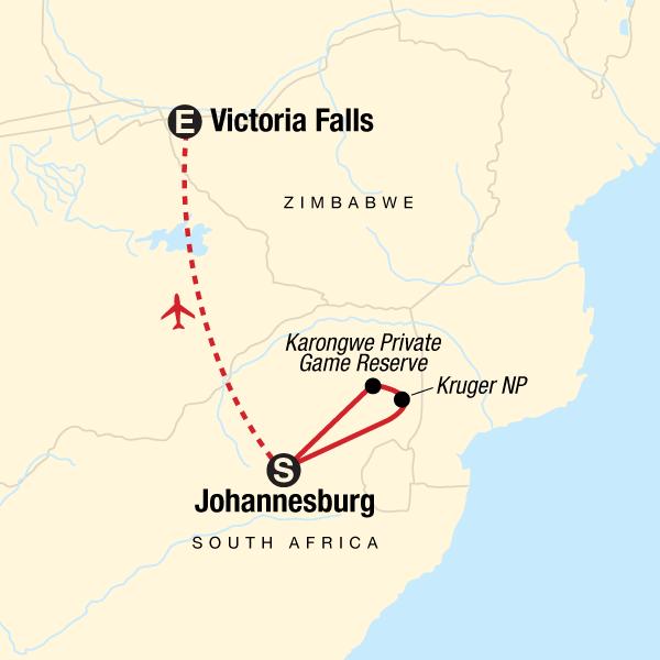 Entdecke den Krüger-Nationalpark & die Victoriafälle in ...