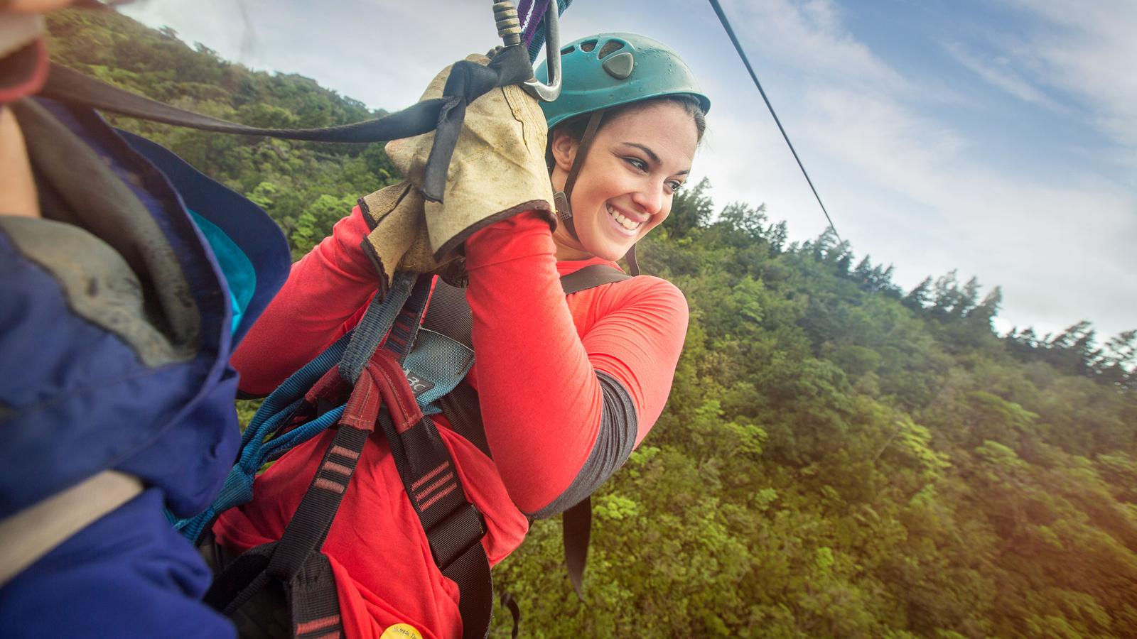 Zipping down the line in Costa Rica!