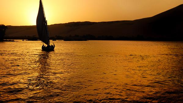 Travel the River Nile as people who have in the time of the Pharaohs on a felucca boat with travel writer Paul Manser.