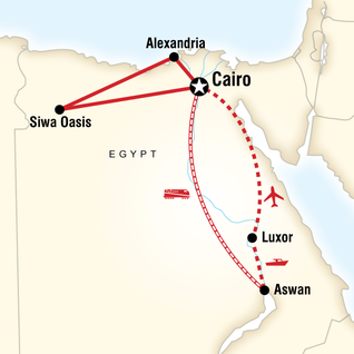 Moving Temple Abu Simbel In Egypt G Adventures - Map of egypt oasis