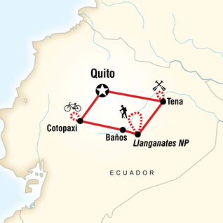 Map of Ecuador Multisport