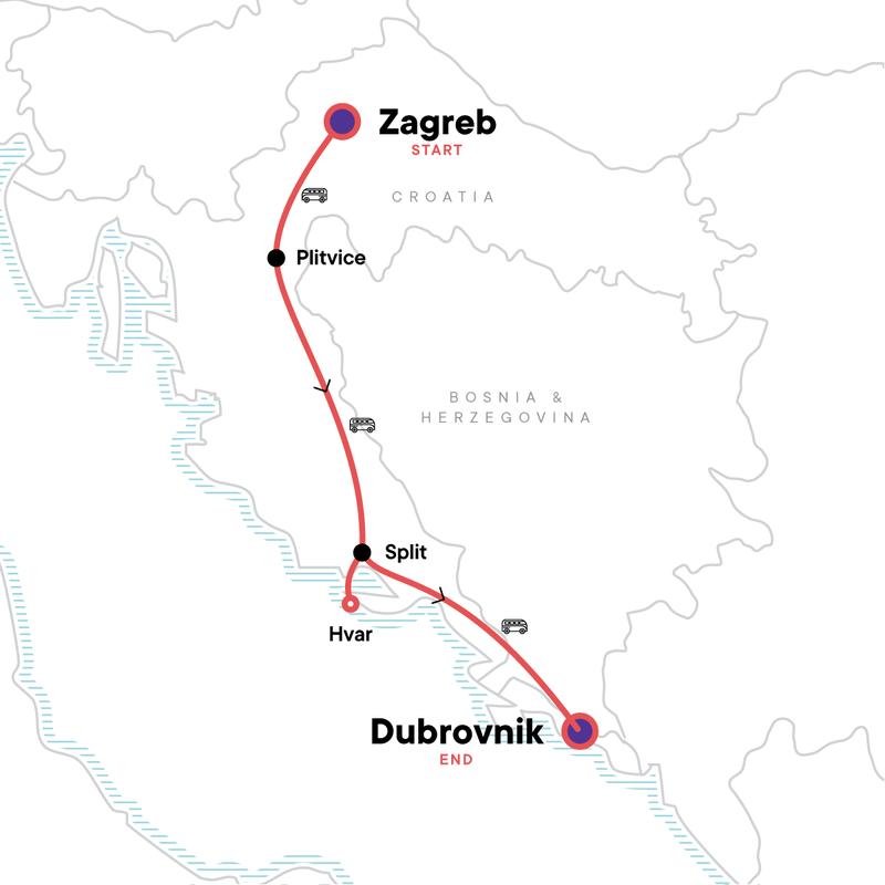 Von Zagreb Nach Dubrovnik Plitvicer Seen Parties In Kroatien Europa G Adventures