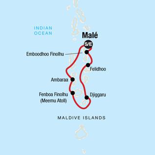Map of Maldives Dhoni Explorer