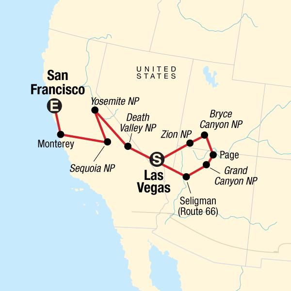 Karte Usa Westen.Nationalparks Im Westen Der Usa In Vereinigte Staaten Nordamerika