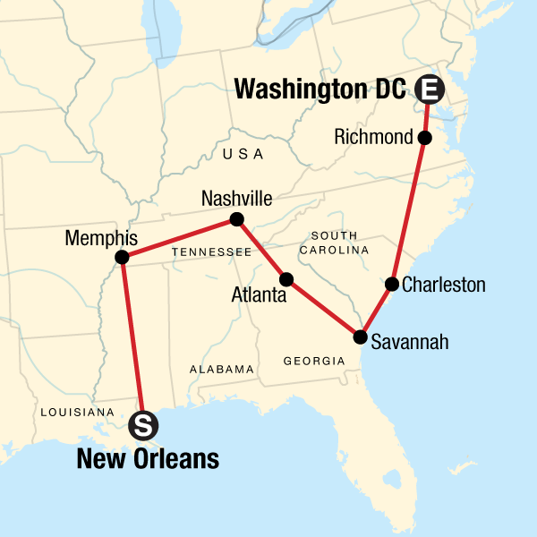 Deep South to DC – Music, Eats, and Culture in United States, North
