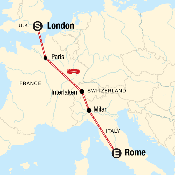 Map Of Italy Train Stations.London To Rome Adventure