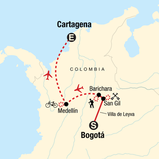 Map of Colombia Multisport
