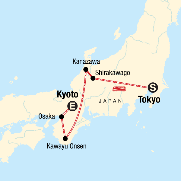 Japan Karte.Die Highlights Von Japan Im Winter In Japan Asien G Adventures