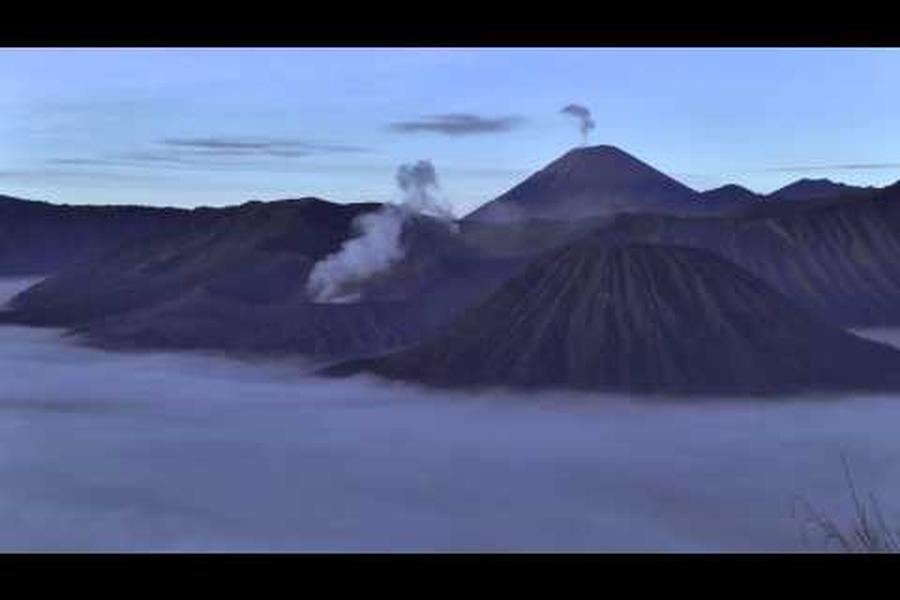 Watch fog lap at the hem of Indonesia's Mt Bromo in today's time-lapse.
